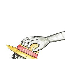 Luffy Crying Shanks Hand by Teebss