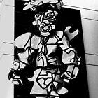 Street art as man by Thad Zajdowicz