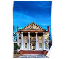 Winter Blue - Old Southern Home Poster