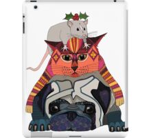 holly mouse cat pug iPad Case/Skin