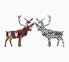 charcoal spice deer Kids Clothes