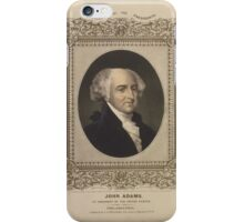 John Adams, 2nd president of the United States iPhone Case/Skin