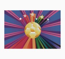 Soccer Ball with Stars 2 Kids Tee