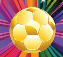 Soccer Ball with Stars 2 Sticker