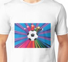 Soccer Ball with Stars 3 Unisex T-Shirt