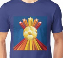 Soccer Ball with Stars 5 Unisex T-Shirt