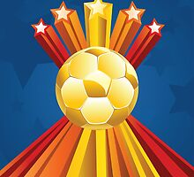 Soccer Ball with Stars 5 by AnnArtshock