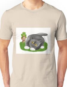 Toadstool Frog and Kitten Unisex T-Shirt