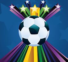Soccer Ball with Stars 6 by AnnArtshock