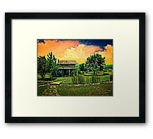 Spring Storm Up Near Fredericksburg Texas on a Recent Road Trip with VivaChas! ~;0) Framed Print