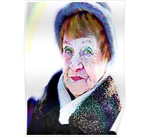 Her funny hazel eyes and funny blue hat... Poster