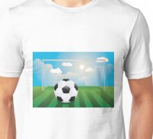 Soccer Goal with Ball Unisex T-Shirt