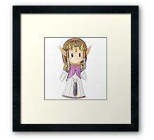 Mini Zelda Framed Print