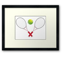 Tennis Ball and Racket Framed Print