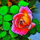 A Fractalius Rose by Jawaher