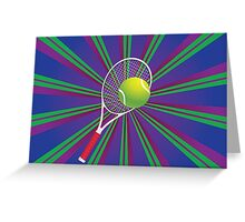 Tennis Ball and Racket 2 Greeting Card
