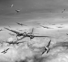 Battle of Britain Day black and white version by Gary Eason + Flight Artworks