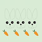 Happy Little Rabbits by Jayne Le Mee