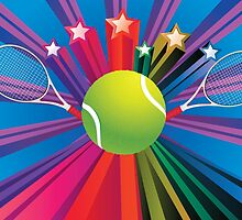 Tennis Ball and Racket 3 by AnnArtshock