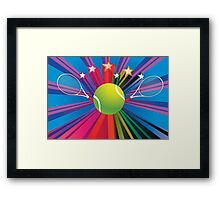 Tennis Ball and Racket 3 Framed Print