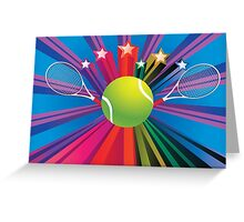 Tennis Ball and Racket 3 Greeting Card