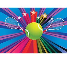 Tennis Ball and Racket 3 Photographic Print