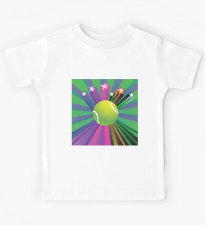 Tennis Ball Background 2 Kids Tee