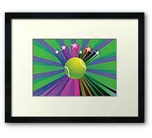 Tennis Ball Background 2 Framed Print