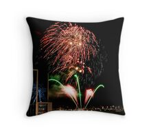 New Years Eve Fireworks 2 Throw Pillow
