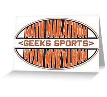Math Marathon geeks sports Greeting Card