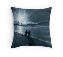 Moonlight Stroll Throw Pillow