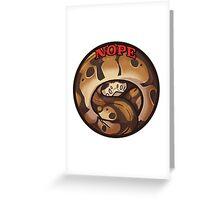 Nopesnake Greeting Card
