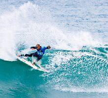 Kelly Slater Speed Blur Blue vest. by Gerhard Engelbrecht