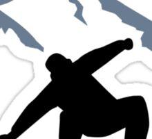 Snowboarder mountains Sticker