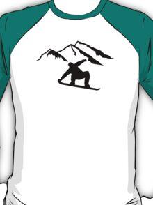 Mountains snowboarding T-Shirt