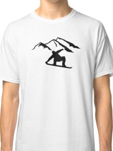 Mountains snowboarding Classic T-Shirt