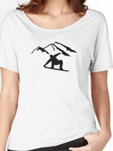 Mountains snowboarding Women's Relaxed Fit T-Shirt