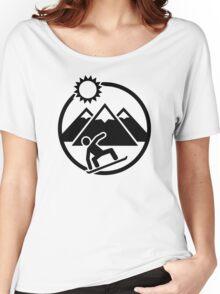 Snowboard mountains sun Women's Relaxed Fit T-Shirt