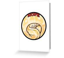 NOPE albino Greeting Card