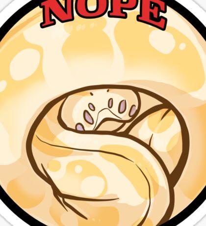NOPE albino Sticker
