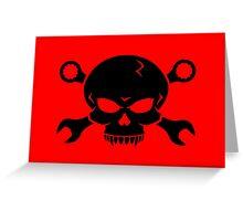 Skull 'n' Tools - Screw Pirate 2 (black) Greeting Card