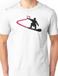 Snowboard racing Unisex T-Shirt