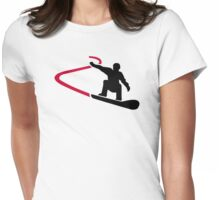 Snowboard racing Womens Fitted T-Shirt