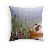 Stuck In The Reeds Throw Pillow