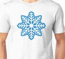 Blue snowflake Unisex T-Shirt