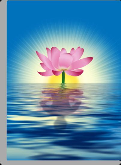 Lotus Reflecting Yoga by lydiasart