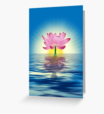 Lotus Reflecting Yoga Greeting Card