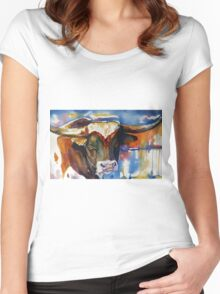 Texas Longhorn Women's Fitted Scoop T-Shirt