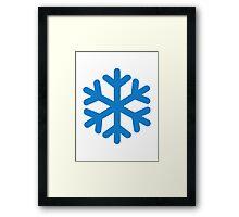 Blue snow symbol Framed Print
