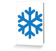 Blue snow symbol Greeting Card